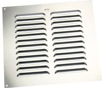 "Map Louvred Aluminium Vents - Silver - Opening Size: 9"" x 9"" - 229 x 229mm"